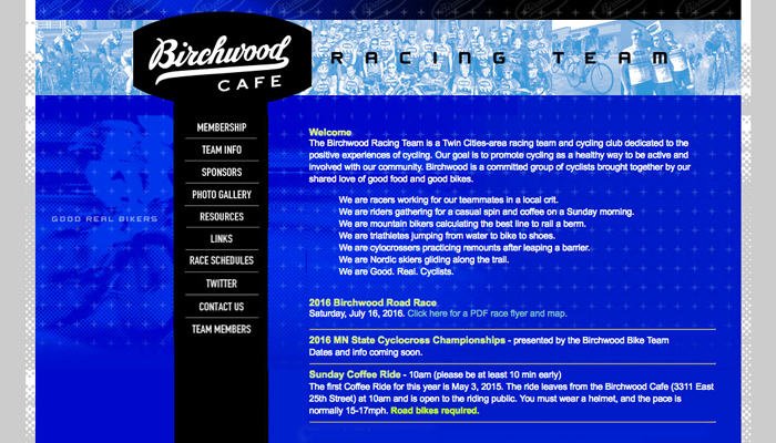 Birchwood Bike Team : Website