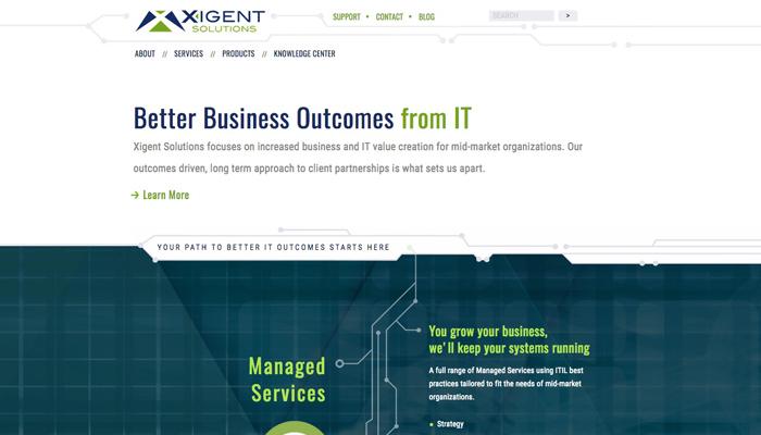 Xigent Soultions : Web Site
